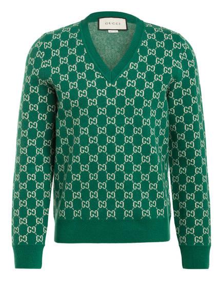 GUCCI Pullover , Farbe: GRÜN/ CREME (Bild 1)