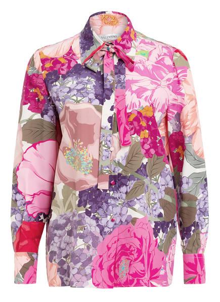 VALENTINO Schluppenbluse aus Seide, Farbe: ROSA/ LILA (Bild 1)