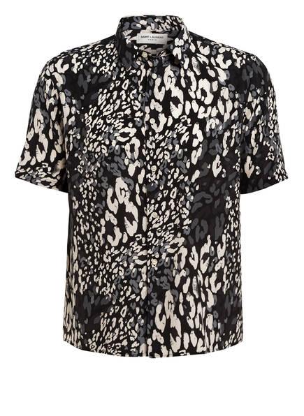 SAINT LAURENT Halbarm-Hemd Regular Fit aus Seide, Farbe: SCHWARZ/ WEISS/ GRAU  (Bild 1)