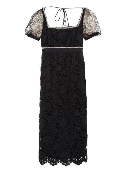 self-portrait Kleid mit Spitzenbesatz, Farbe: SCHWARZ (Bild 1)