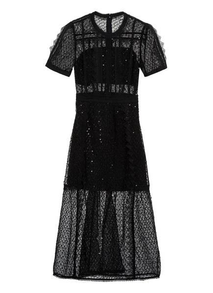 self-portrait Kleid mit Paillettenbesatz , Farbe: SCHWARZ (Bild 1)