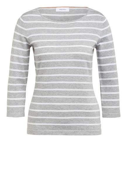 DARLING HARBOUR Pullover mit 3/4-Arm, Farbe: GRAU/ WEISS GESTREIFT (Bild 1)