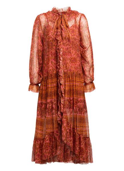 ZIMMERMANN Kleid EDIE mit Volantbesatz, Farbe: ROT/ DUNKELROT/ ORANGE (Bild 1)