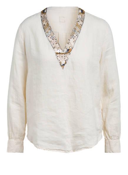 120%lino Blusenshirt aus Leinen , Farbe: CREME (Bild 1)