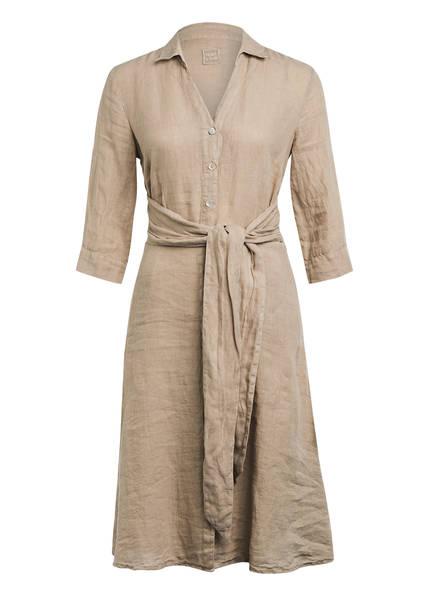 120%lino Hemdblusenkleid aus Leinen , Farbe: BEIGE (Bild 1)