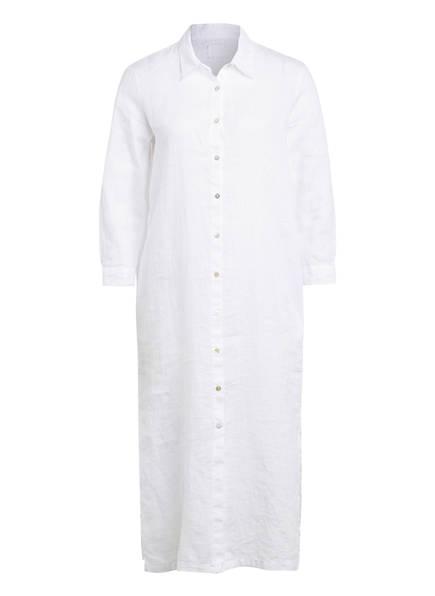 120%lino Hemdblusenkleid aus Leinen , Farbe: WEISS (Bild 1)