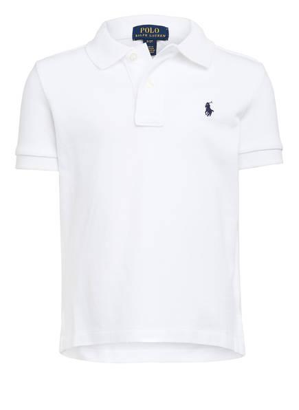 POLO RALPH LAUREN Piqué-Poloshirt, Farbe: 004 WHITE (Bild 1)