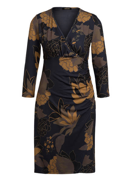 MORE & MORE Kleid mit 3/4-Arm , Farbe: DUNKELGRAU/ KHAKI/ DUNKELGELB (Bild 1)