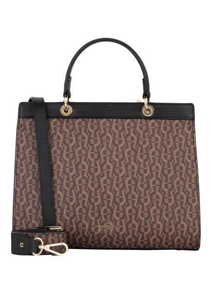 AIGNER Handtasche CAROL M, Farbe: BRAUN/ SCHWARZ (Bild 1)