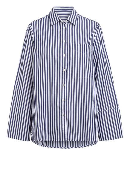 ESSENTIEL ANTWERP Oversized-Hemdbluse, Farbe: WEISS/ DUNKELBLAU (Bild 1)