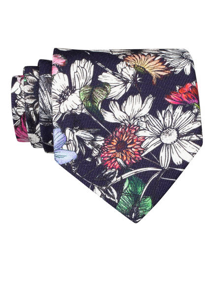 OLYMP SIGNATURE Krawatte, Farbe: DUNKELBLAU/ WEISS/ LILA (Bild 1)