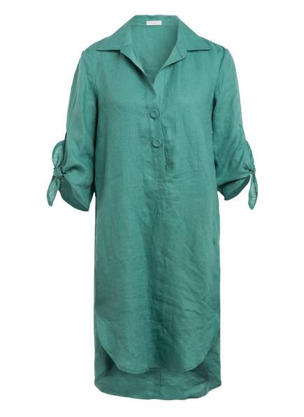 RIANI Hemdblusenkleid aus Leinen mit 3/4-Arm, Farbe: GRÜN (Bild 1)