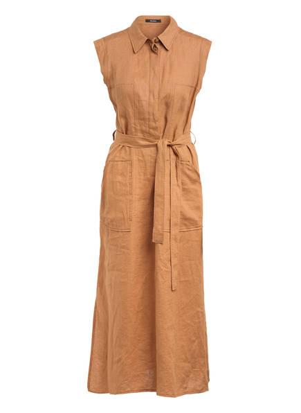 RIANI Hemdblusenkleid aus Leinen, Farbe: COGNAC (Bild 1)