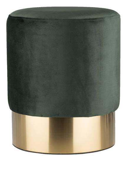 KARE Samt-Pouf , Farbe: dunkelgrün (Bild 1)