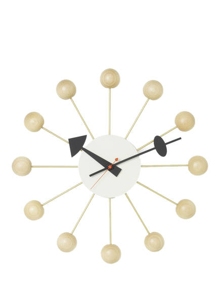 vitra Wanduhr BALL CLOCK , Farbe: BEIGE/ GOLD (Bild 1)