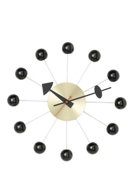 vitra Wanduhr BALL CLOCK , Farbe: SCHWARZ/ SILBER (Bild 1)