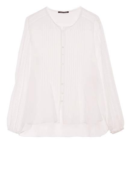 LUISA CERANO Bluse mit Seide , Farbe: WEISS (Bild 1)