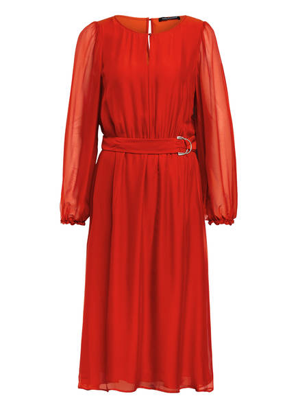 LUISA CERANO Kleid mit Seide, Farbe: DUNKELORANGE (Bild 1)