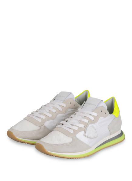 PHILIPPE MODEL Sneaker TRPX LU, Farbe: WEISS/ GRAU/ NEONGELB (Bild 1)