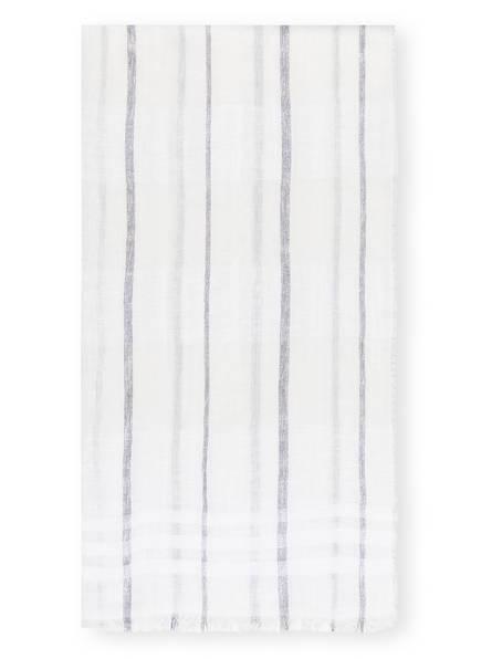 PESERICO Schal mit Leinen, Farbe: WEISS/ SILBER (Bild 1)