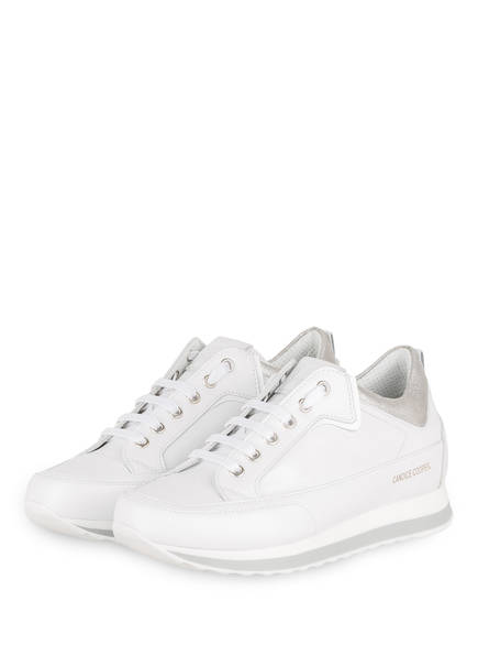 Candice Cooper Sneaker ADEL, Farbe: WEISS/ SILBER (Bild 1)