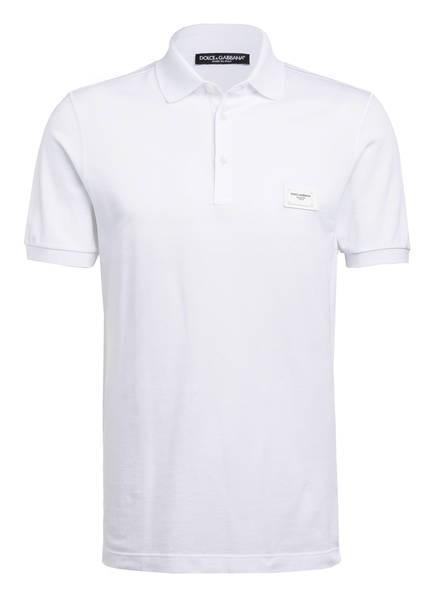 DOLCE&GABBANA Piqué-Poloshirt, Farbe: WEISS (Bild 1)