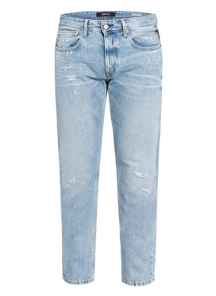 REPLAY Destroyed Jeans GROVER Tapered Fit , Farbe: 010 010 LIGHT BLUE (Bild 1)