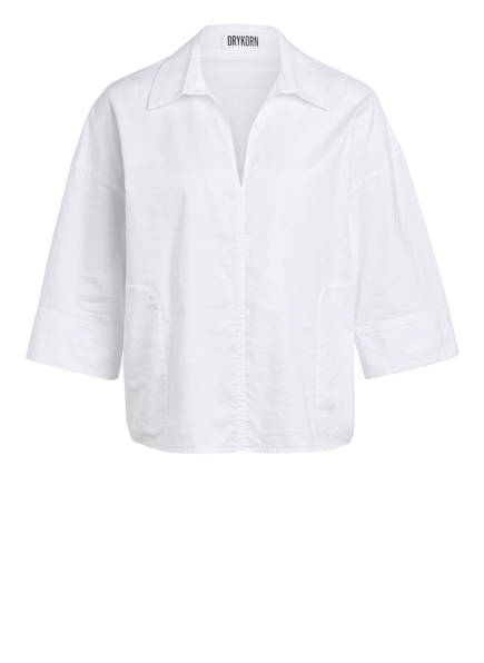 DRYKORN Blusenshirt NIGRA mit 3/4-Arm, Farbe: WEISS (Bild 1)