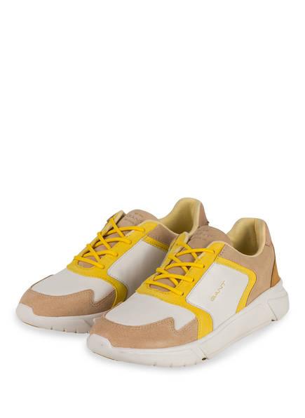 GANT Plateau-Sneaker COCOVILLE, Farbe: BEIGE/ WEISS/ GELB (Bild 1)