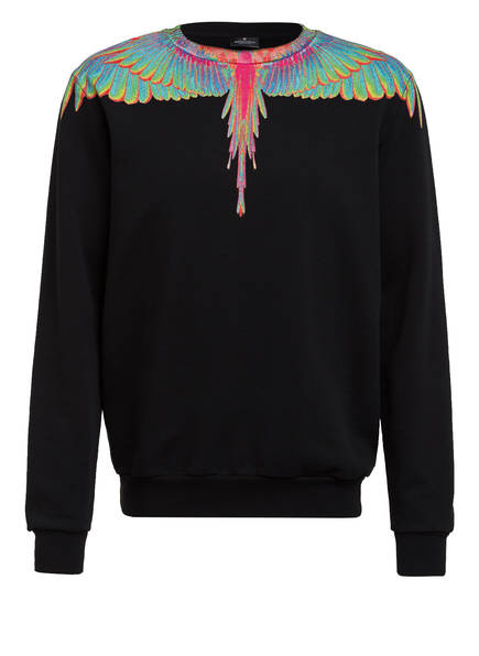MARCELO BURLON Sweatshirt FLUO, Farbe: SCHWARZ/ GRÜN/ PINK (Bild 1)