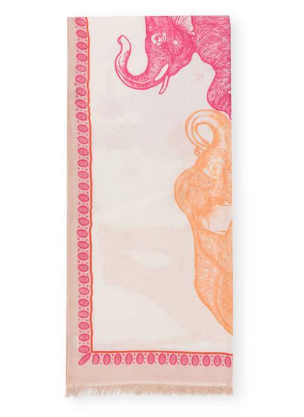 HEMISPHERE Cashmere-Schal mit Seide, Farbe: ORANGE/ ROSA (Bild 1)