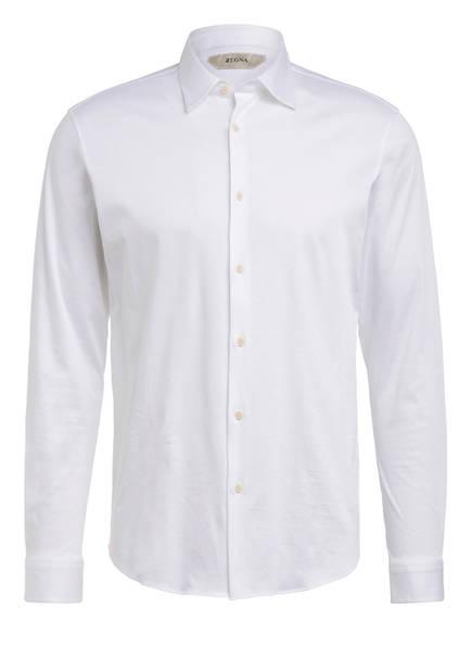 ZZegna Jerseyhemd Comfort Fit, Farbe: WEISS (Bild 1)