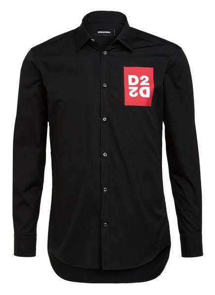 DSQUARED2 Hemd Slim Fit, Farbe: SCHWARZ/ ROT (Bild 1)