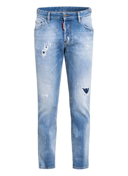 DSQUARED2 Destroyed Jeans SKATER Extra Slim Fit, Farbe: 470 BLUE (Bild 1)