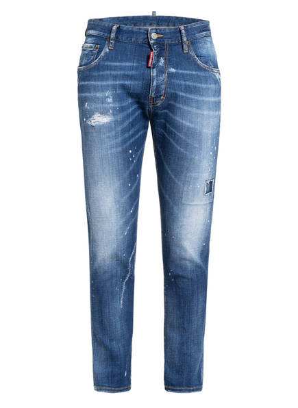 DSQUARED2 Destroyed Bootcut Jeans Extra Slim Fit, Farbe: 470 BLUE (Bild 1)