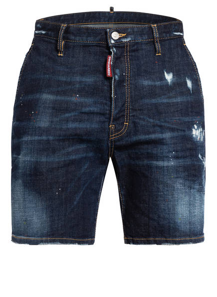 DSQUARED2 Destroyed Jeans-Shorts, Farbe: 470 BLUE (Bild 1)