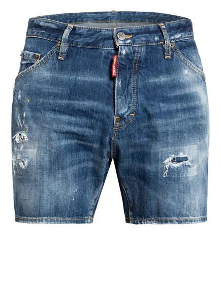 DSQUARED2 Destroyed Jeans-Shorts BULLY DAN COMMANDO, Farbe: 470 BLUE (Bild 1)