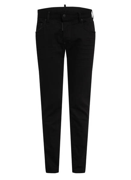 DSQUARED2 Jeans RESIN TREATMENT 3D Slim Fit, Farbe: 900 BLACK (Bild 1)