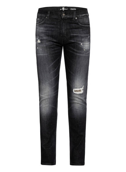 7 for all mankind Destroyed Jeans RONNIE Slim Fit, Farbe: BLACK (Bild 1)