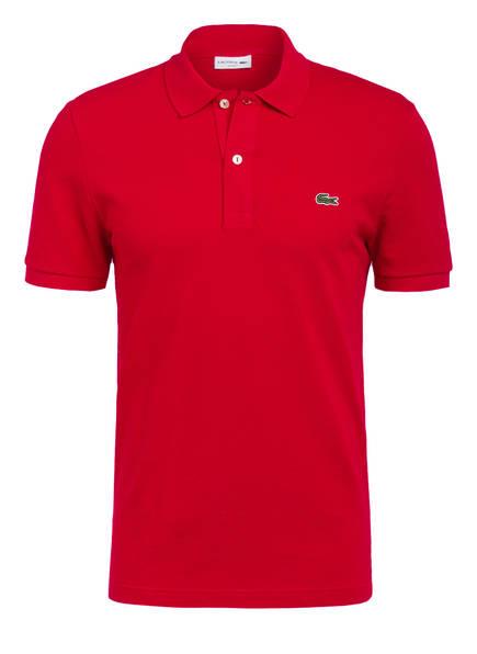 LACOSTE Piqué-Poloshirt Slim Fit, Farbe: ROT (Bild 1)