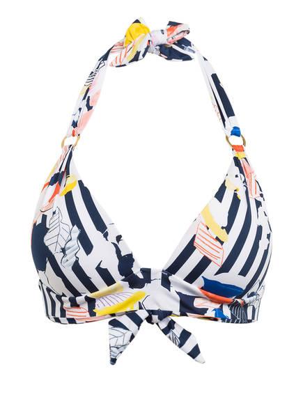 CYELL Neckholder-Bikini-Top HELLO SAILOR , Farbe: WEISS/ DUNKELBLAU/ GELB (Bild 1)