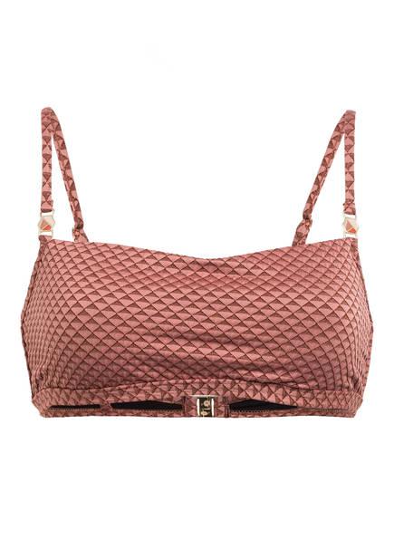 CYELL Bustier-Bikini-Top SPARKLESS ROSE , Farbe: ALTROSA/ BRAUN (Bild 1)