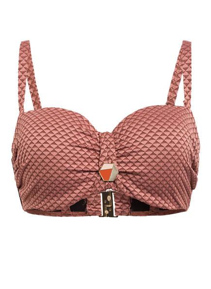 CYELL Bandeau-Bikini-Top SPARKLESS ROSE , Farbe: ALTROSA/ BRAUN (Bild 1)