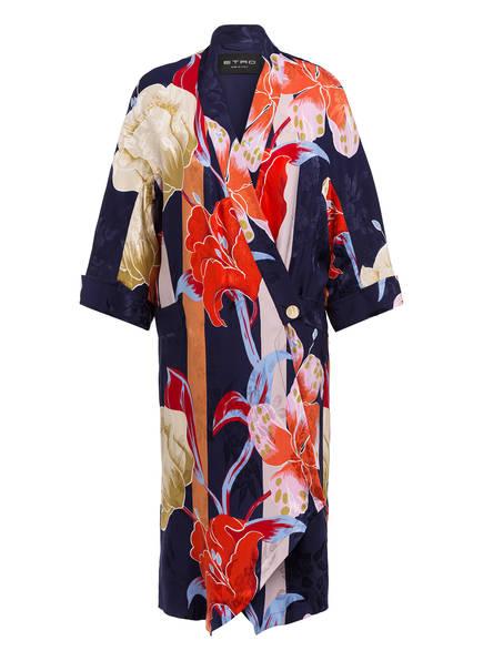 ETRO Kimono mit Seide, Farbe: DUNKEKBLAU/ ROT/ ROSÈ (Bild 1)