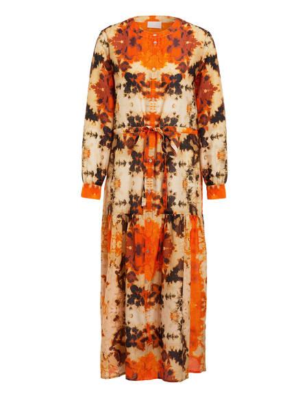 Mrs & HUGS Kleid mit Seide, Farbe: ORANGE/ BRAUN/ BEIGE (Bild 1)