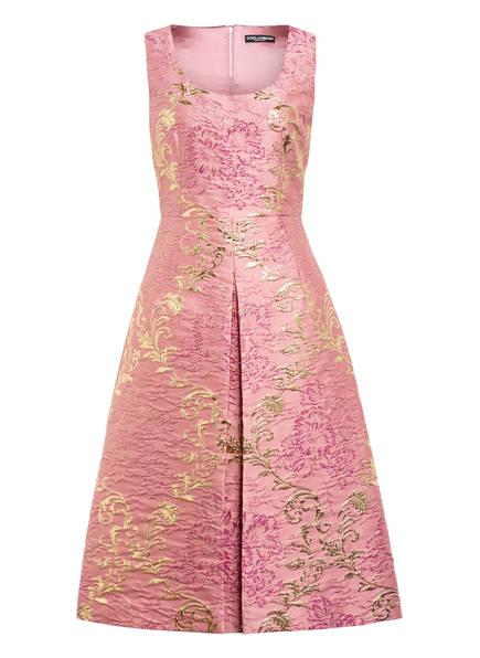 DOLCE&GABBANA Jacquard-Kleid, Farbe: ROSA/ GOLD (Bild 1)
