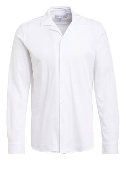 ORLEBAR BROWN Piqué-Hemd GILES X Slim Fit, Farbe: WEISS (Bild 1)