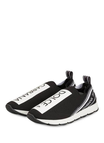 DOLCE&GABBANA Slip-on-Sneaker SORRENTO, Farbe: SCHWARZ/ WEISS (Bild 1)
