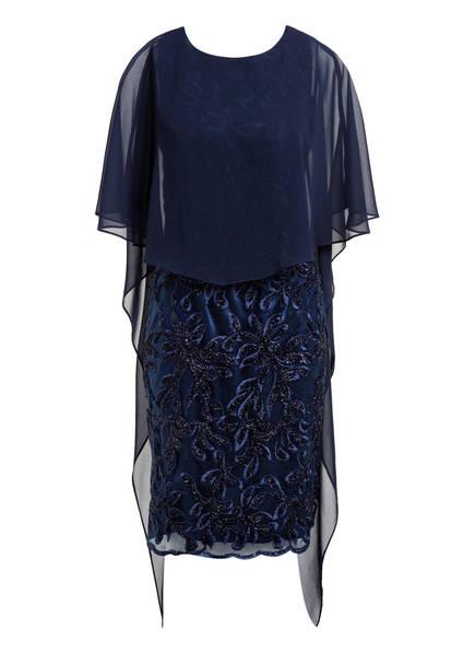 SWING Kleid mit Schmucksteinbesatz , Farbe: DUNKELBLAU (Bild 1)