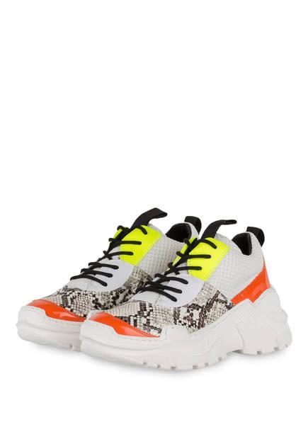 GIO+ Plateau-Sneaker, Farbe: WEISS/ NEONGELB/ ORANGE (Bild 1)